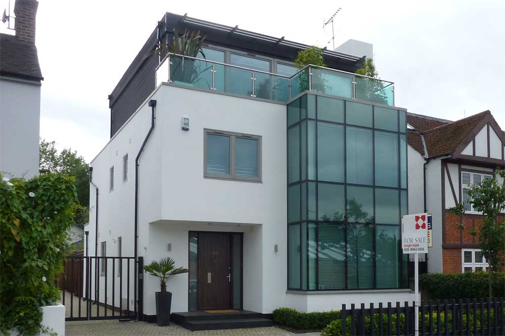 Front Elevation Of Two Storey House : Modern houses in the london borough of merton wimbledon park